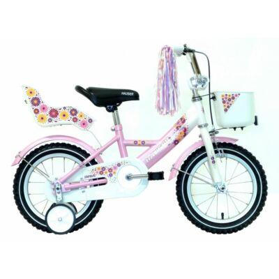 """Hauser BMX14"""" Swan fehér/rózsaszín kosárral és tároló dobozzal Gyerek Kerékpár"""