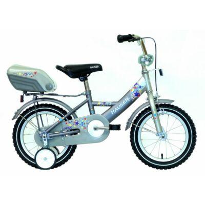 """Hauser BMX14"""" Swan matt ezüst/grafit hátsó tároló dobozzal Gyerek Kerékpár"""