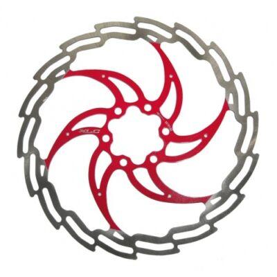 XLC Féktárcsa 180 mm ezüst-piros BR-X02