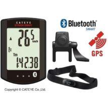 Cateye Computer Strada Smart Rd500w Wireless Fekete Pedál-sebesség-pulzusmérős