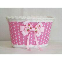 Csepel Kosár Gyermek Műanyag Rms Pink Masnis