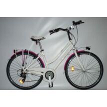Ferrini Beverly Lady 28'' 21s. Tourney Fehér/Violet Női Trekking Kerékpár