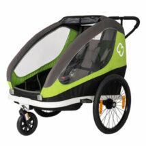 Hamax Traveller Utánfutó Kerékpárra zöld-szürke