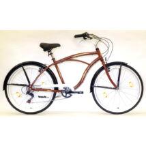 "Hauser 26"" Cruiser ffi alu 6seb 18"" barna férfi Cruiser kerékpár"