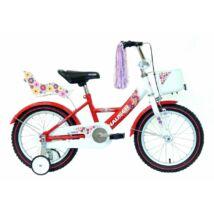 """Hauser Bmx16"""" Swan Fehér/Piros Kosárral És Babaüléssel Gyerek Kerékpár"""
