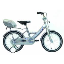 """Hauser Bmx16"""" Swan Matt Ezüst/Grafit Hátsó Tároló Dobozzal Gyerek Kerékpár"""