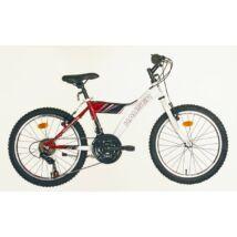"""Hauser 20"""" Cobra 18seb fehér-piros Gyerek Kerékpár"""