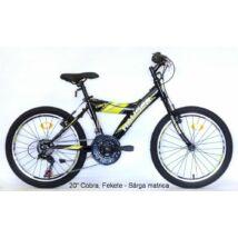 "Hauser 20"" Cobra 18seb fekete matrica:sárga Gyerek Kerékpár"