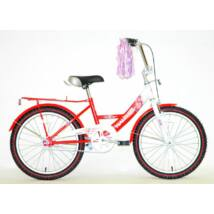"""Hauser BMX20"""" Swan fehér/piros Gyerek Kerékpár"""