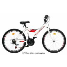 "Hauser 24"" Viper 18seb fehér matrica:piros Gyerek Kerékpár"