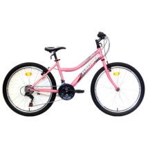 """Hauser 24"""" Wolf 18seb Női Rózsaszín Gyerek Kerékpár"""