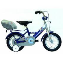 """Hauser Bmx12"""" Swan Ezüst/Kék Hátsó Tároló Dobozzal Gyerek Kerékpár"""