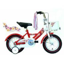 """Hauser Bmx12"""" Swan Fehér/Piros Kosárral És Babaüléssel Gyerek Kerékpár"""