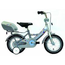 """Hauser Bmx12"""" Swan Matt Ezüst/Grafit Hátsó Tároló Dobozzal Gyerek Kerékpár"""