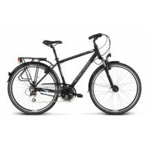 Kross Trans 3.0 2018 férfi Trekking Kerékpár black-blue-silver matte
