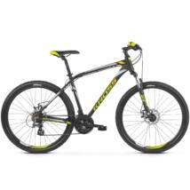 "Kross Hexagon 3.0 26"" 2019 férfi Mountain Bike black/lime-silver"