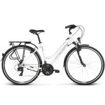 Kross TRANS 1.0 2020 női Trekking Kerékpár white-black glossy