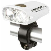 MERIDA Lámpa első, 2 LED, fekete 3 funkció, USB, akku fehér
