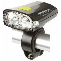 MERIDA Lámpa első, 2 LED, fekete 3 funkció, USB, akku fekete