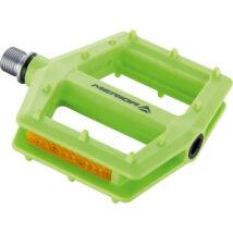 MERIDA Pedál PLATFORM zöld (CNC) műanyag, 346 g - 5275
