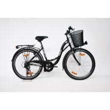 """Trans Montana City 28"""" acél 1 sebességes női City kerékpár fekete"""