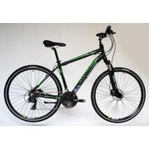 Trans Montana Cross Trekking 2.0 HIDRAULIKUS TÁRCSAFÉK Alu 21seb férfi cross kerékpár fekete/zöld