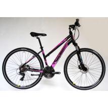Trans Montana Cross Trekking 2.0 HIDRAULIKUS TÁRCSAFÉK Alu 21seb női cross kerékpár fekete/pink