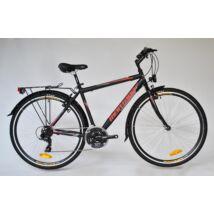 """Trans Montana Trekking 1.0 acél férfi kerékpár 28"""" fekete-piros"""
