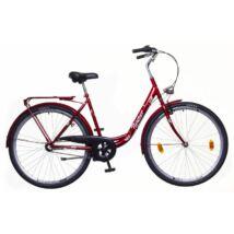Neuzer Balaton 28 N3 női City Kerékpár bordó/barna-fehér