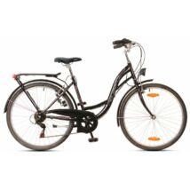 Neuzer Ravenna 6 női City Kerékpár fekete/pink-fehér