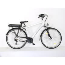 Neuzer E-Trekking Zagon MXUS feher teleszkopos villaval férfi E-bike
