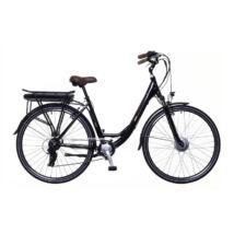 Neuzer E-Trekking Zagon teleszkópos villával női E-bike fekete