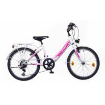 Neuzer Cindy 20 City Gyerek Kerékpár fehér/fehér-pink