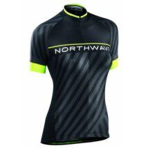 Northwave Mez Logo3 Wmn Női Rövid Fekete/Sárga Fluo
