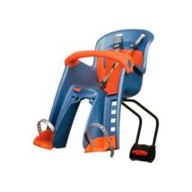 """Polisport első gyerekülés """"Bilby Junior"""" FF, hátsó vázcsőre szerelhető kék-narancs"""