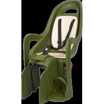 Polisport hátsó gyerekülés Groovy Maxi FF, vázra szerelhető sötétzöld-krém
