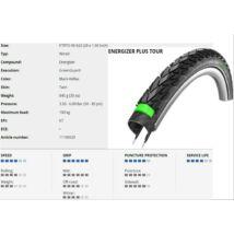 Schwalbe Külső 622-40 (28X1.50) Energizer Plus Tour Perf Hs441 Green Enc Ref Tw 845G