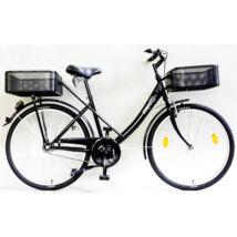 Schwinncsepel PICK UP 26/19 GR 16 KOSÁRRAL női city kerékpár