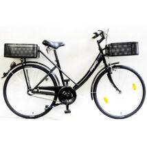 Schwinncsepel PICK UP 26/19 N3 16 KOSÁRRAL női city kerékpár