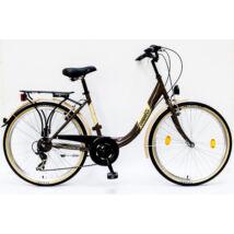 Schwinncsepel BUDAPEST B 26/18 7SP 16 női City Kerékpár barna
