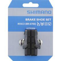 Shimano Fékpofa Országúti Br6700-G (R55C3) Betétes, Párban (Glossy Grey Szürke)