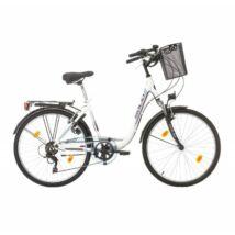Sprint Solid SOLARA 26″ CITY, 6 sp női City Kerékpár fehér
