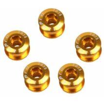 Spyral Lánckerék Csav Speed M8/0,75-6,5 Al gold (5 db)