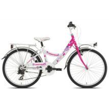 """Torpado T611 Kelly MTB 24"""" Gyerek Kerékpár pink/fehér"""