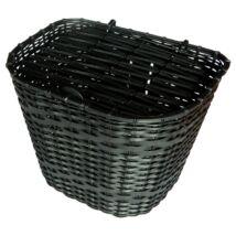 Velotech Kosár első fekete műanyag