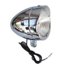 Velotech Lámpa első Retro krómozott fém
