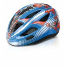 XLC Fejvédő gyermek S/M 51-55 cm hts. vill.LED kék Racer BH-C17