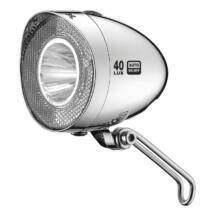 XLC Lámpa agydin.első, Retro LED, króm, 20 LUX, kapcsoló, szenzor, állófény