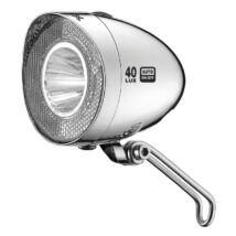 XLC Lámpa agydin.első, Retro LED, króm, 40 LUX, kapcsoló, szenzor, állófény