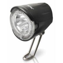 XLC Lámpa agydinamós első, LED, 20 LUX, kapcsolóval és állófénnyel
